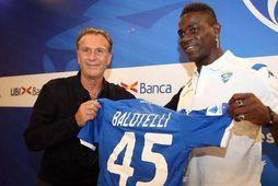 Mario Balotelli gæti spilað sinn fyrsta leik fyrir Brescia á morgun.