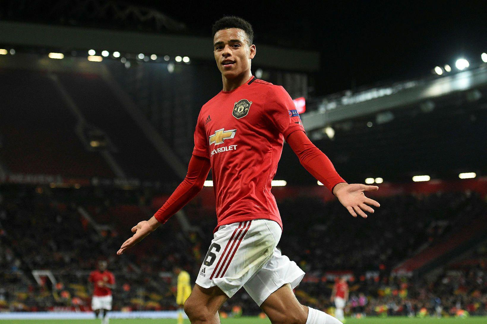 Mason Greenwood skoraði sigurmark Manchester United.