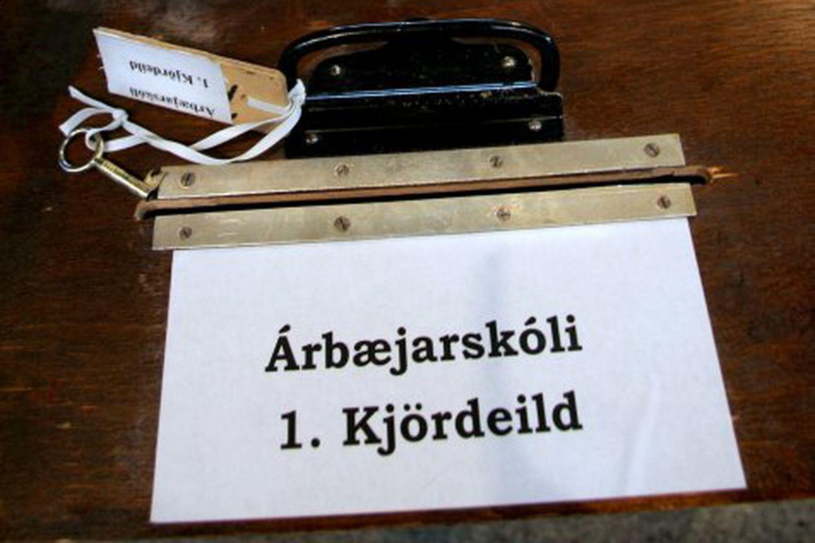 Kjörkassar í Ráðhúsinu