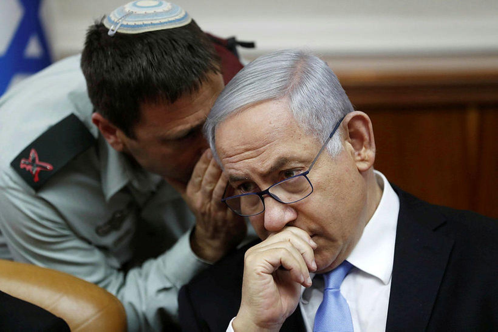 Benjamin Netanyahu, forsætisráðherra Ísraels.