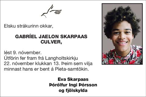 Gabríel Jaelon Skarpaas Culver,