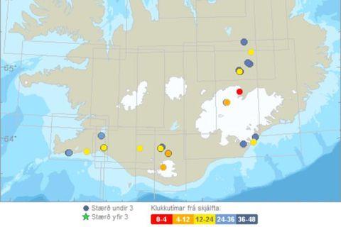 200 earthquakes have been detected in Öxarfjörður. .