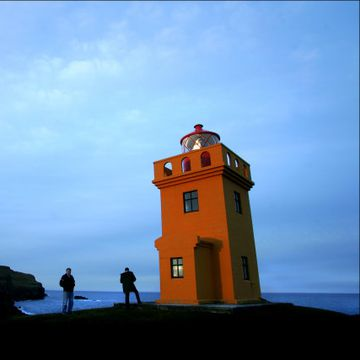 The lighthouse in Grímsey.