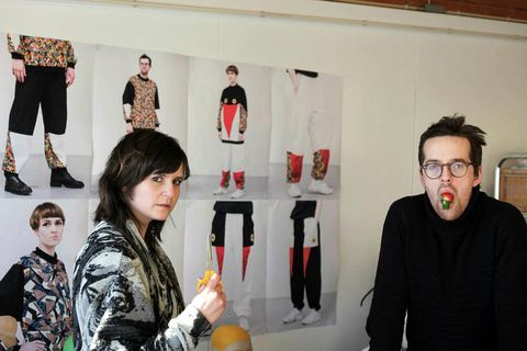 DesignersLoji and Tanjaare exhibiting a new National Football team outfit at Design March.