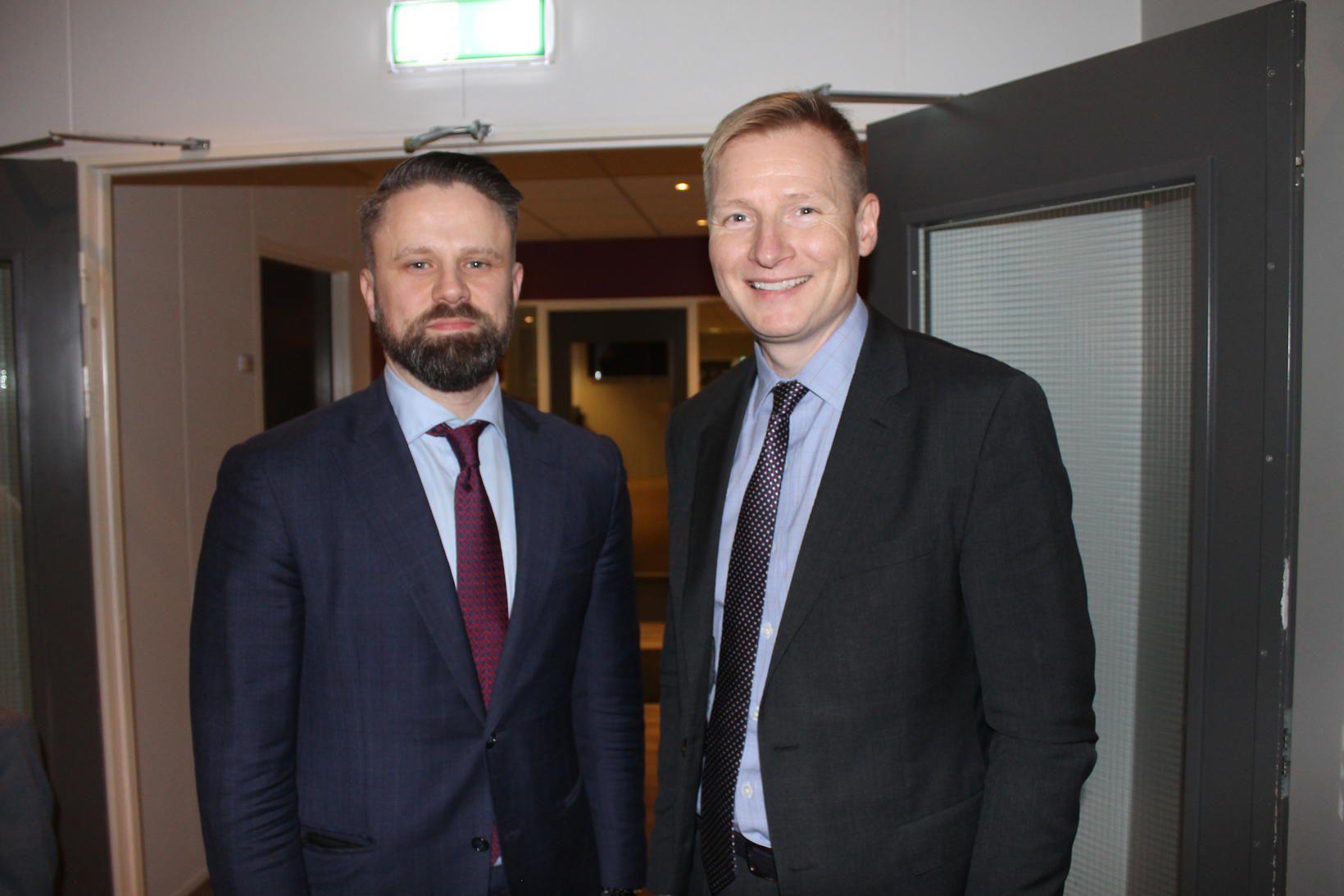 Sævar Þór Jónsson og Bjarni Ármannsson.
