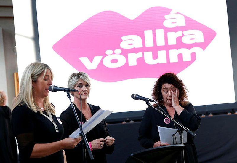 The initiative was launched in Hallgrímskirkja church yesterday. The leaders of the effort, from left: Elísabet Sveinsdóttir, Gróa Sigurðardóttur and Guðný Pálsdóttir.