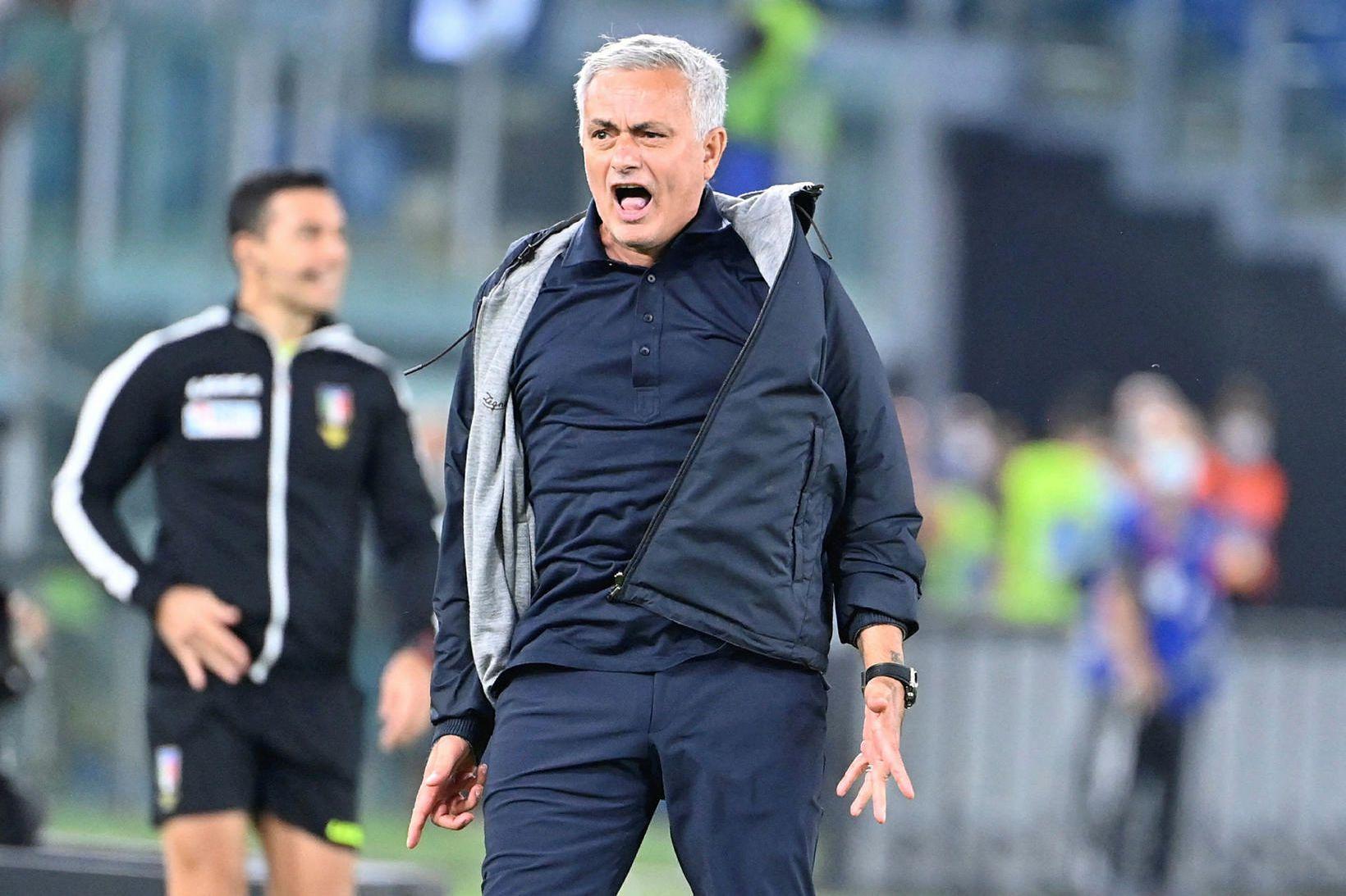 José Mourinho var ósáttur í leikslok.