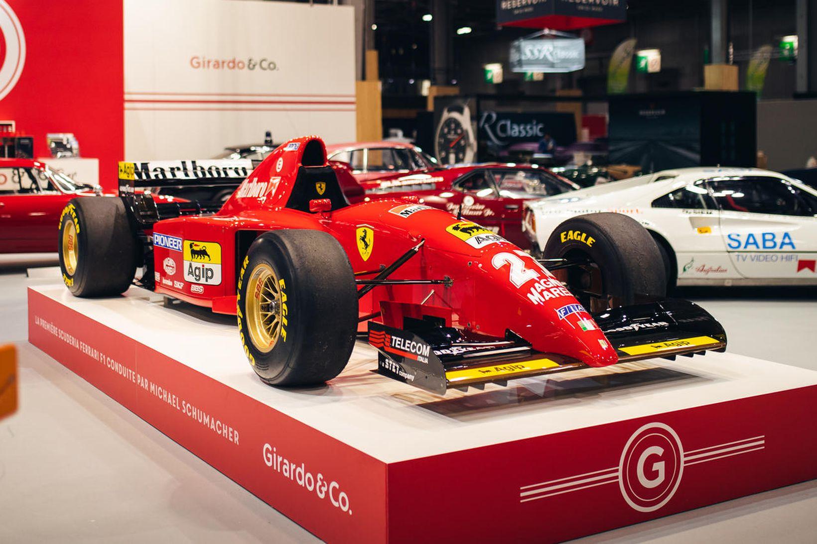 Fyrsti bíll Schumachers hjá Ferrari.