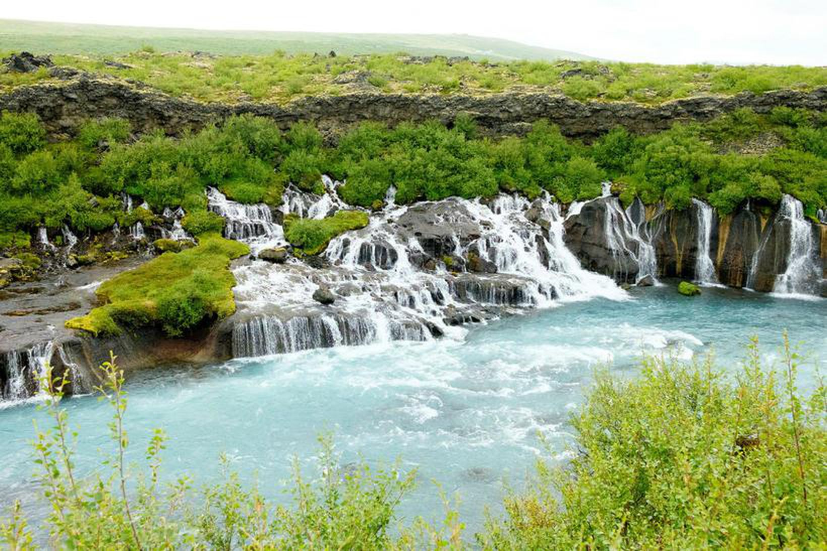 Landeigendur að Hraunfossum í Borgarfirði höfðu ekki skýra lagalega heimild …