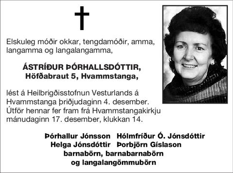 Ástríður Þórhallsdóttir,