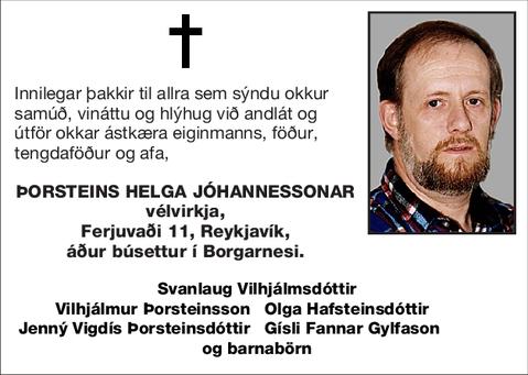 Þorsteins Helga Jóhannessonar