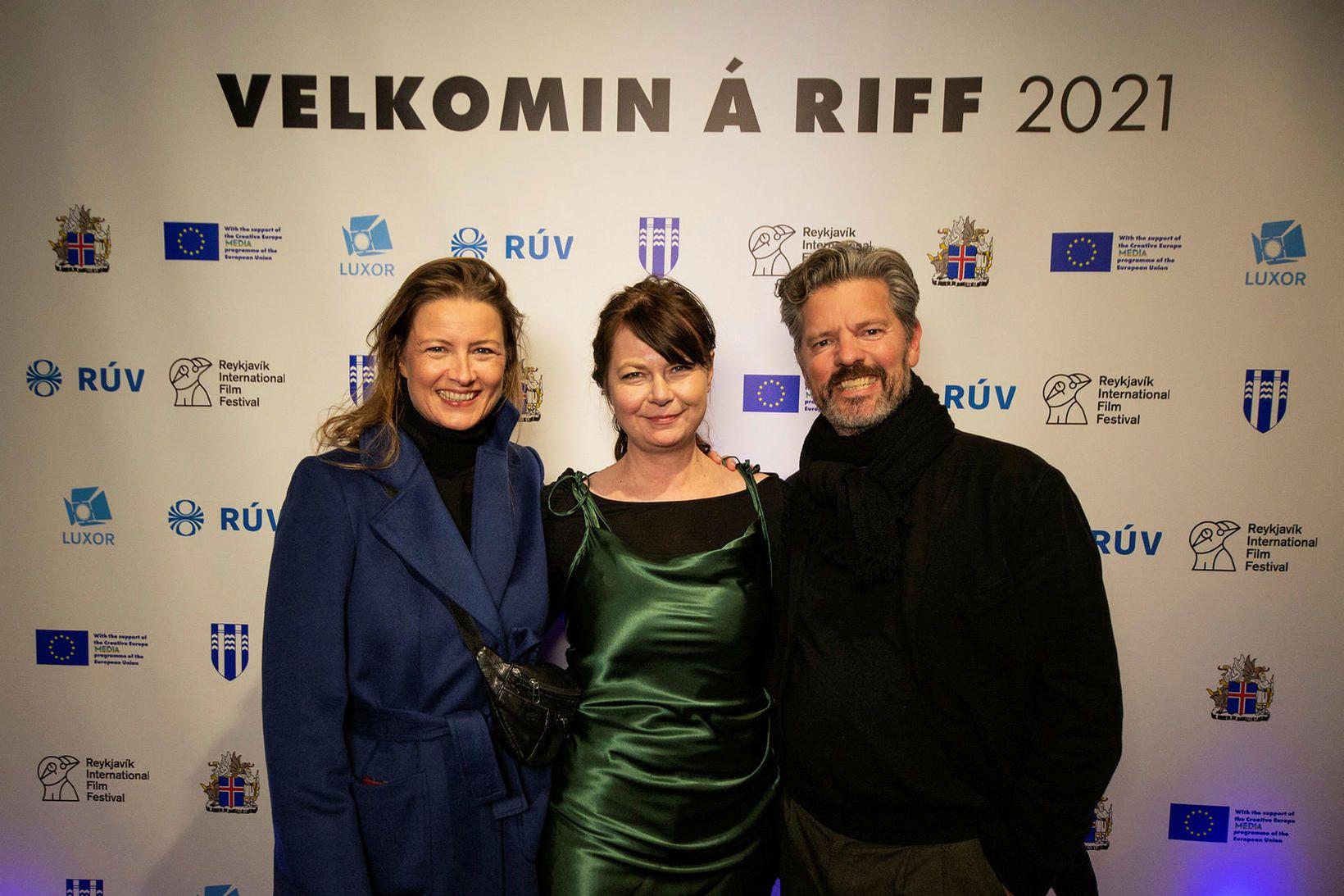 Arna Dögg Einarsdóttir, Marta Luiza Macuga og Dagur B. Eggertsson.