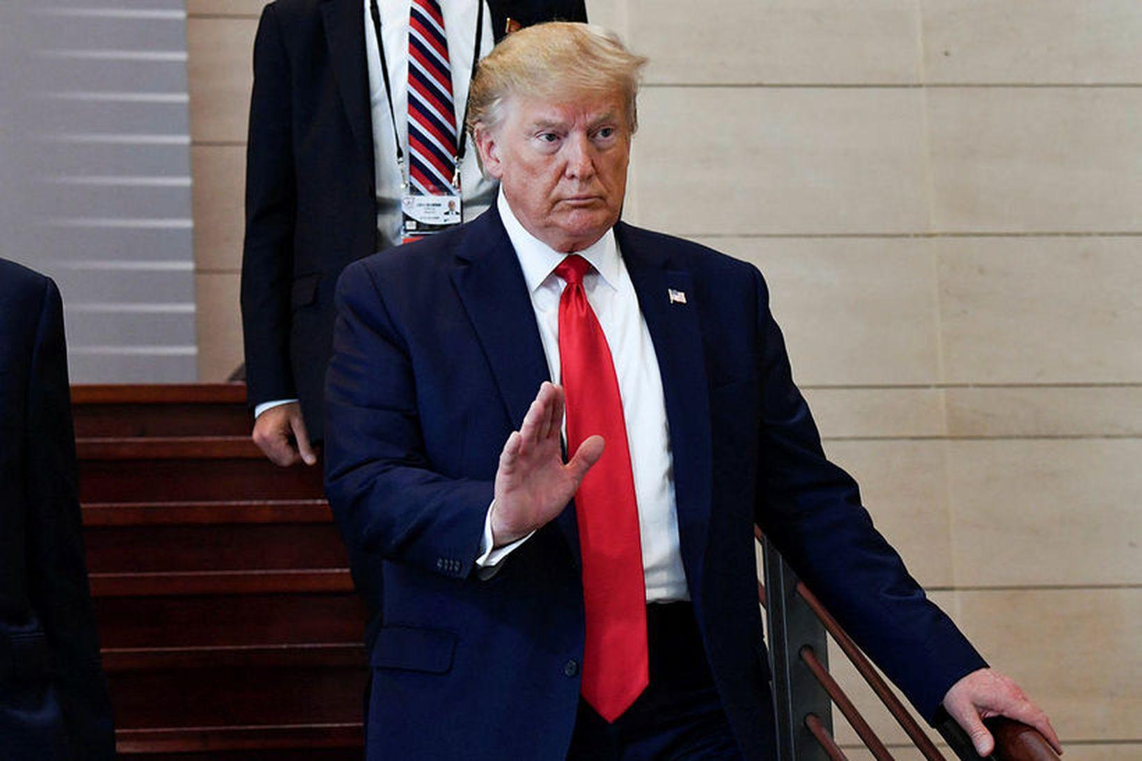 Donald Trump Bandaríkjaforseti segir ekkert til í því að hann …