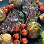 Stórbrotin T-bone steik með heimagerðri bernaise