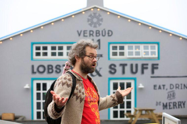 Arnar Eggert Thoroddsen, on a Reykjavík Music Walk.