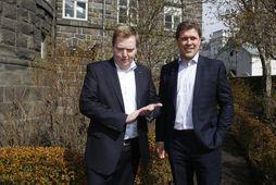 Sigmundur Davíð Gunnlaugsson og Bjarni Benediktsson