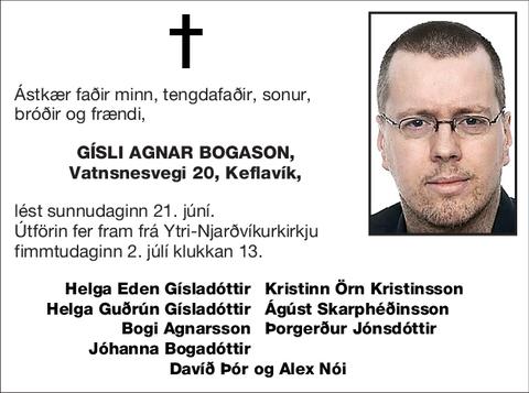 Gísli Agnar Bogason,