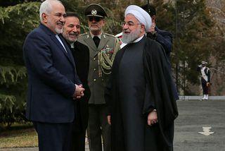 Mohammad Javad Zarif, utanríkisráðherra Írans, og forseti landsins, Hassan Rouhani, á góðri stundu. Zarif greindi ...