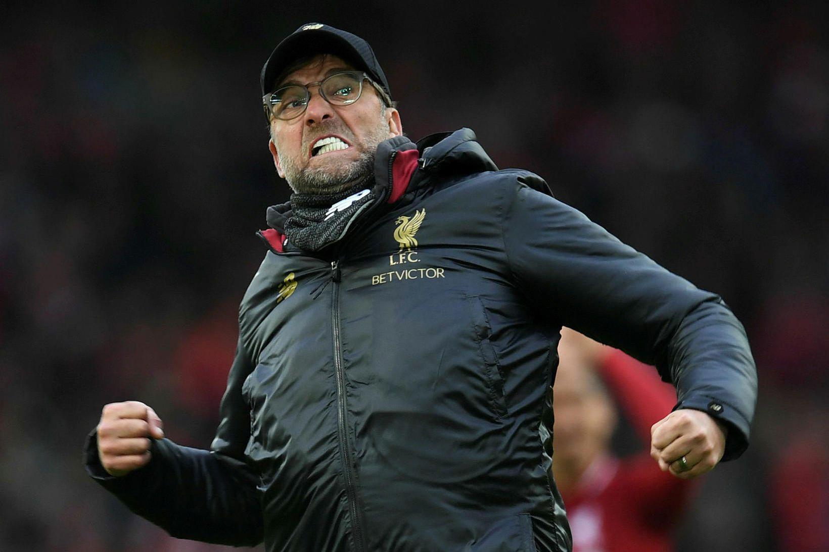 Jürgen Klopp og lærisveinar hans í Liverpool eru með 25 …