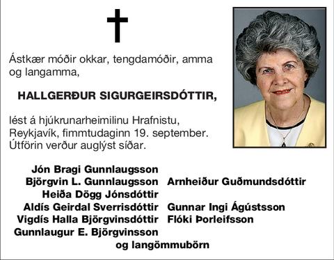 Hallgerður Sigurgeirsdóttir,
