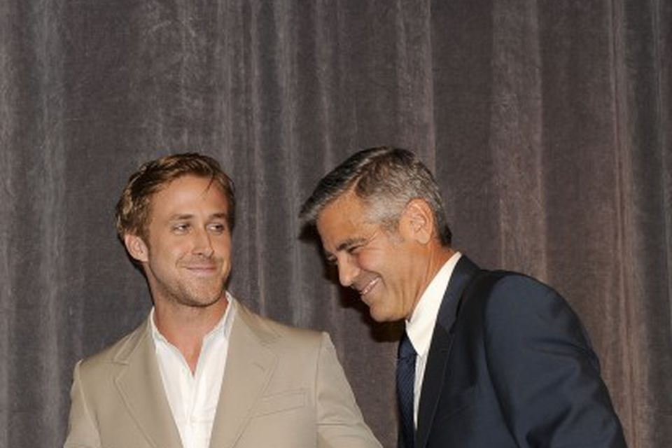 Gosling og George Clooney. Þeir léku saman í myndinni Ides of March.