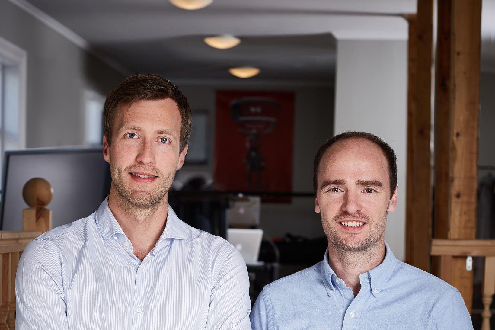 Sæmundur Oddsson og Tryggvi Þorgeisson, stofnendur Sidekick Health.
