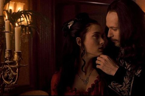 Winona Ryder as Mina and Gary Oldman as Count Dracula in Coppola's film adaptation of Bram Stoker's Dracula.
