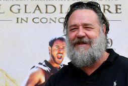 Russell Crowe fyrir rúmlega ári síðan.