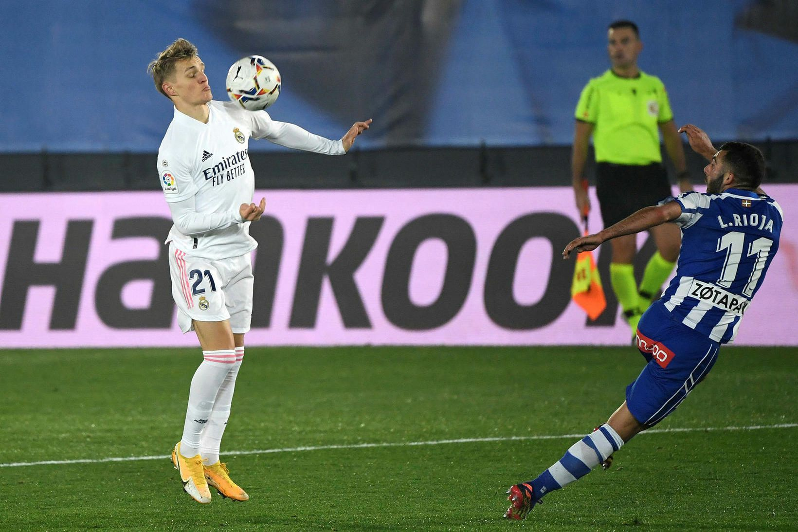 Martin Ødegaard í leik með Real Madrid.