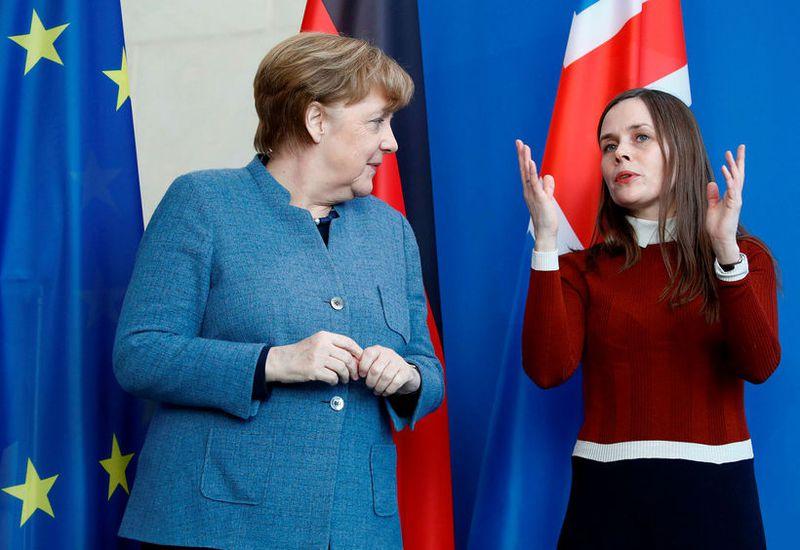 Chancellor Angela Merkel and Prime Minister Katrín Jakobsdóttir, in Germany last year.
