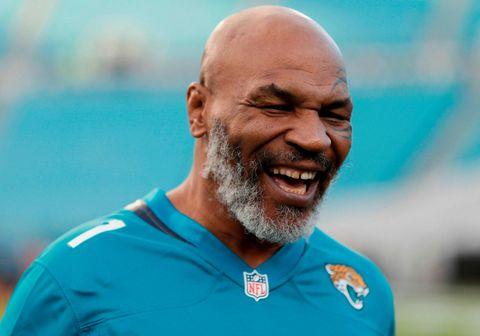 Mike Tyson er farinn að láta á sjá en hann er orðinn 54 ára gamall.