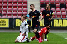 Timo Werner fagnar einu marka sinna í Mainz í dag.