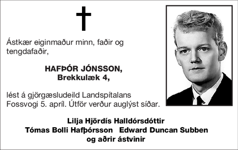 Hafþór Jónsson,