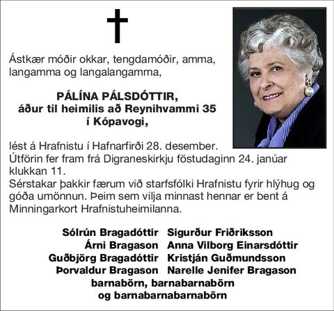 Pálína Pálsdóttir,