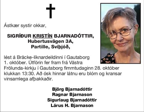 Sigríður <u>Kristín</u> Bjarnadóttir,