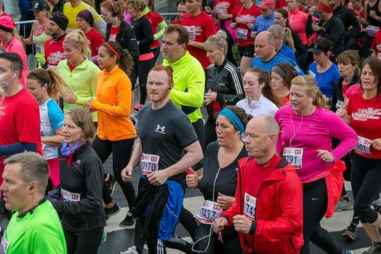 The Reykjavik Marathon last year.