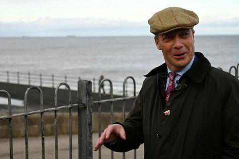 Nigel Farage, leiðtogi Brexit-flokksins.