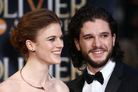 Kit Harington. aka Jon Snow with his girlfriend, actress Rose Leslie.