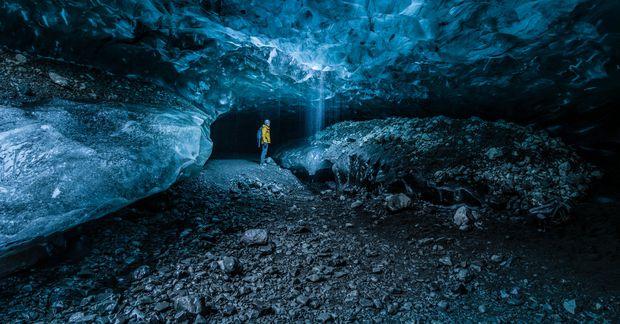 Íshellirinn í Breiðamerkurjökli er stórfengilegur.