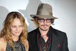Vanessa Paradis ásamt Johnny Depp árið 2012.