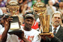 Michael Jordan og Phil Jackson.