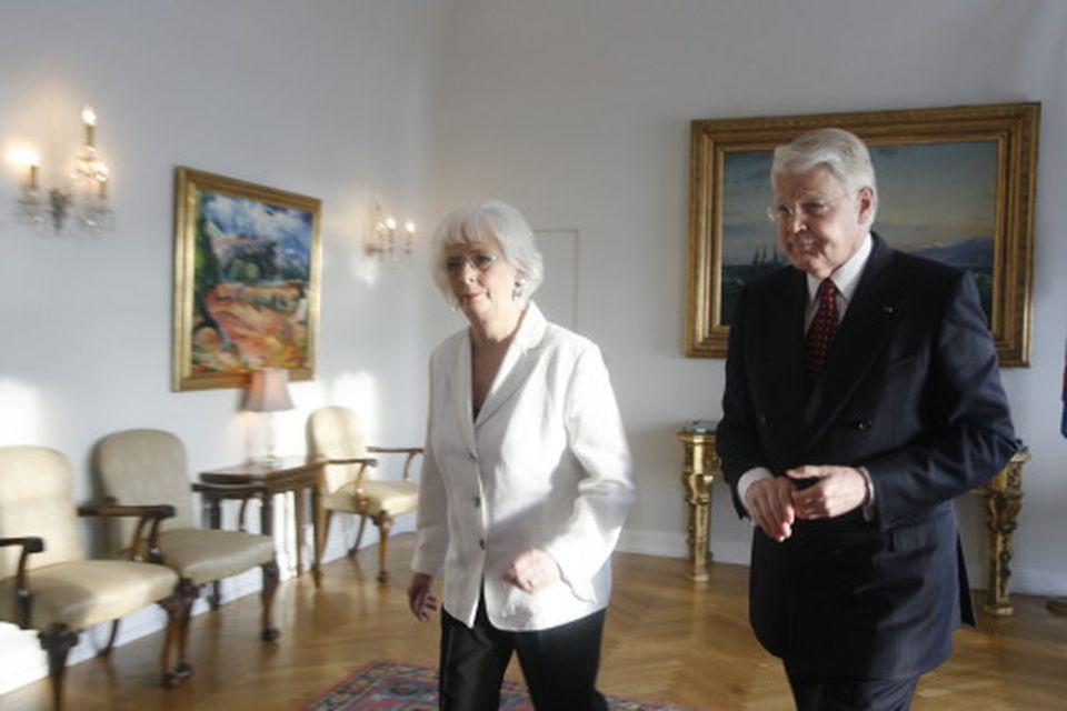 Jóhanna Sigurðardóttir og Ólafur Ragnar Grímsson.