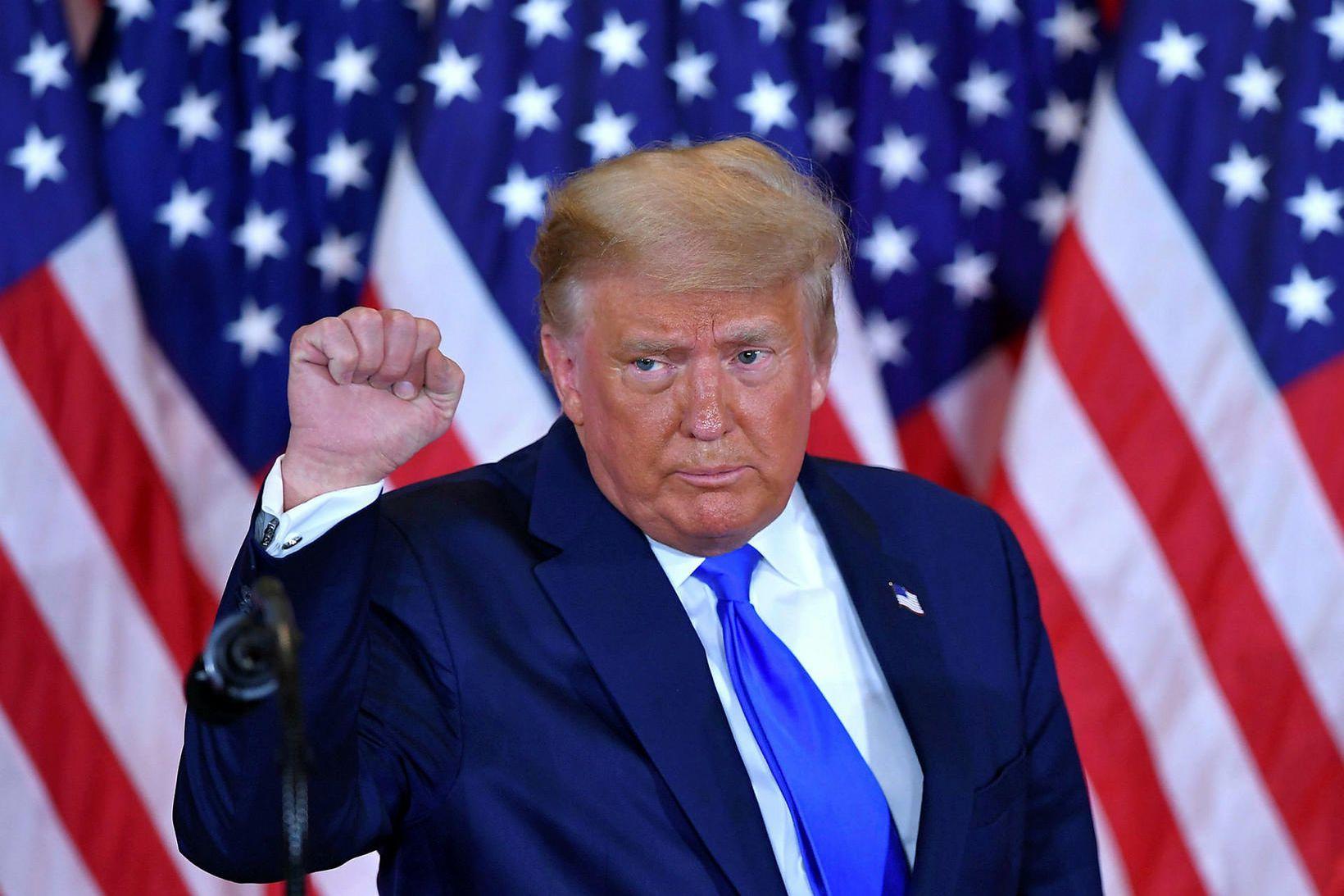 Donald Trump Bandaríkjaforseti gerði það að kosningaloforði sínu fyrir síðustu …