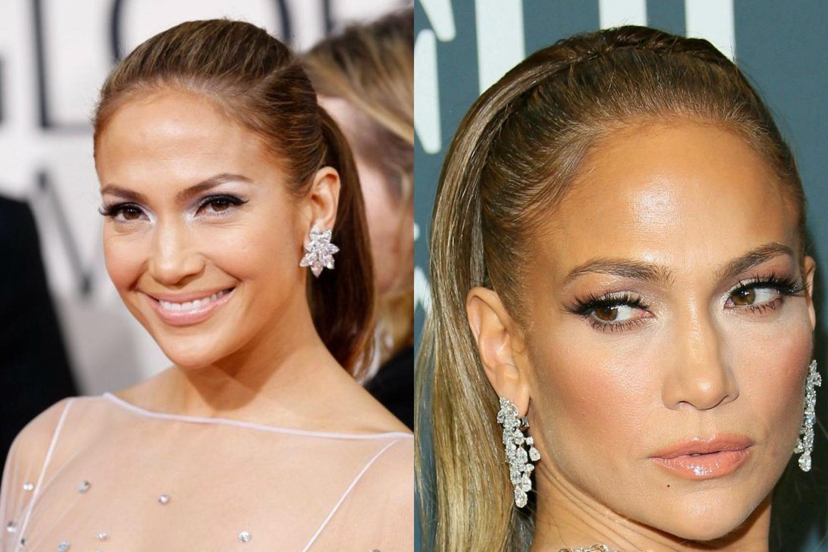 Jennifer Lopez árið 2010 og árið 2020.