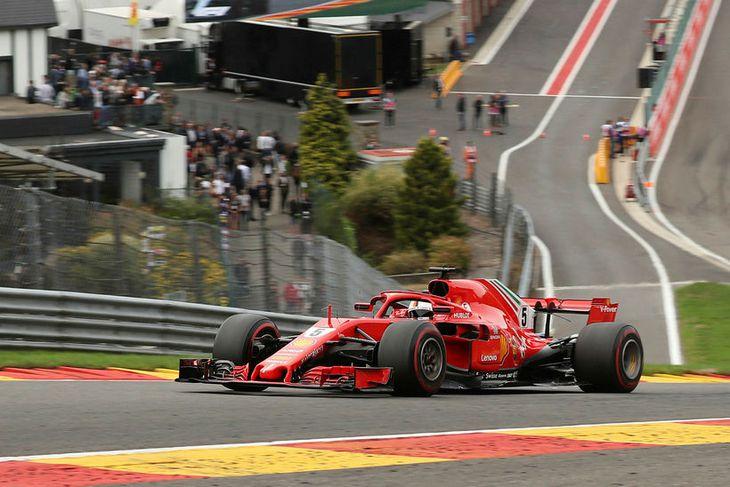 Sebastian Vettel leiddi hvern einasta hring kappakstursins í Spa-Francorchamps.