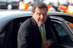 Gerhard Schröder, kanslari Þýskalands, í Lúxemborg í dag.