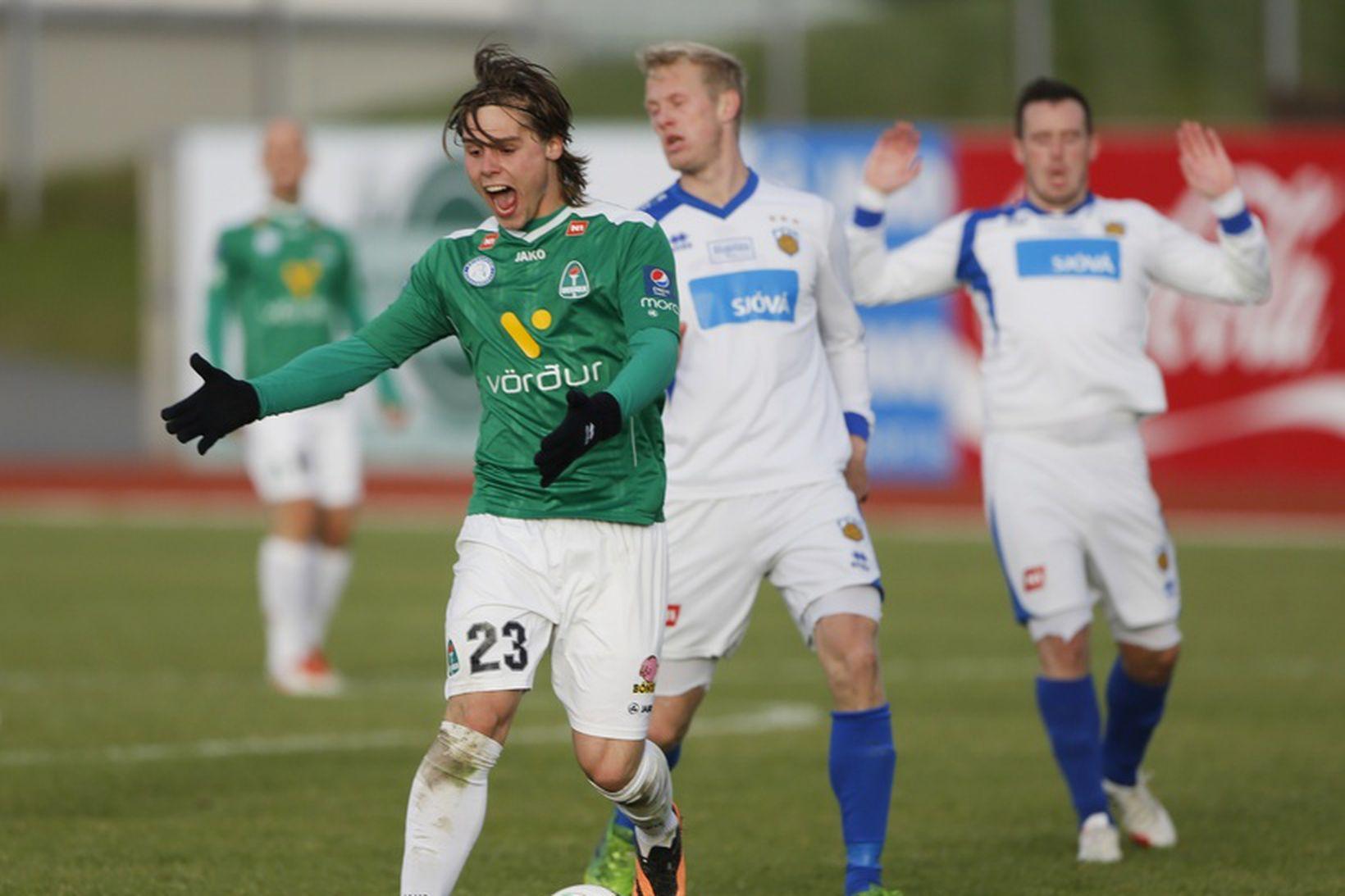 Árni Vilhjálmsson skoraði þrennu fyrir Breiðablik.
