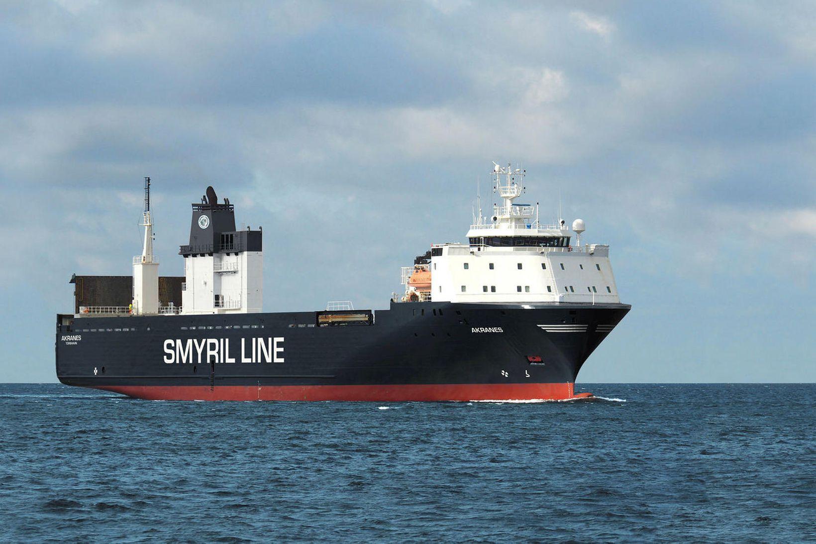 Nýtt skip Smyril Line, Akranes, kemur í fyrsta sinn til …