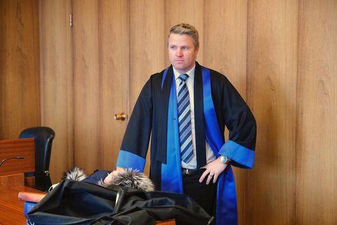 Gunnar Ingi Jóhannsson lögmaður Aldísar Schram í Héraðsdómi Reykjavíkur í dag.