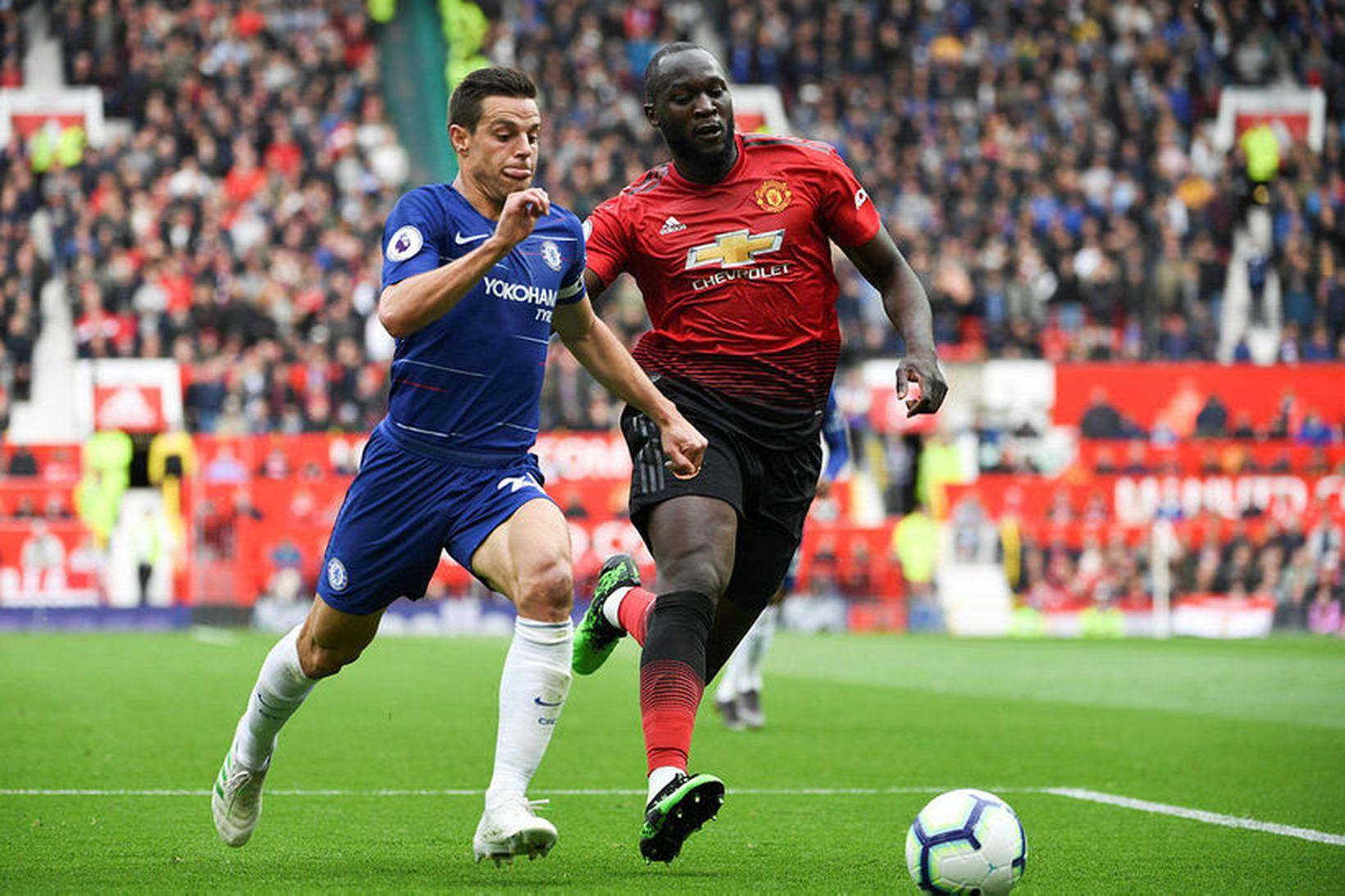 Romelu Lukaku í leik með Manchester United.